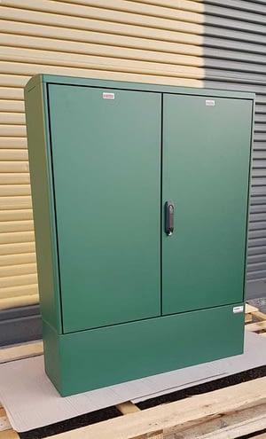 GRP Electric Enclosure, Kiosk, Cabinet, Meter Box, Housing Green 1130x1490x320 mm