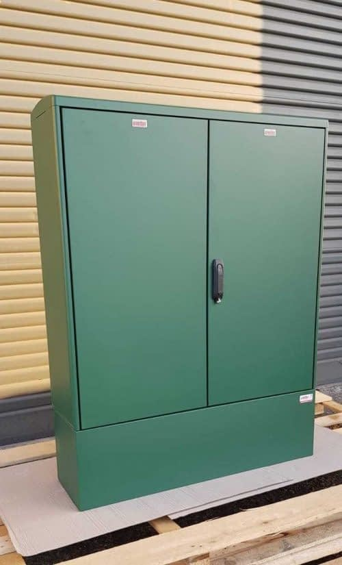 GRP Electric Enclosure, Kiosk, Cabinet, Meter Box, Housing Green 1130x1490x320 mm