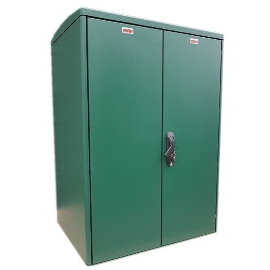 GRP Electric Enclosure, Kiosk, Cabinet, Meter Box, Housing Green 800x1154x640 mm