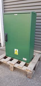 Large 3 Phase Electricity Meter Box W530 x H800 x D245 mm GREEN - Surface Mounted