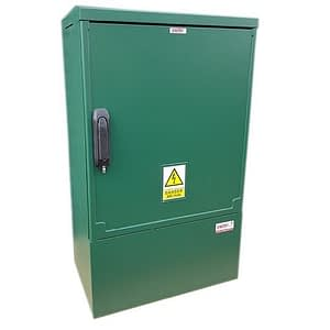 3 Phase Meter Box Green 530x910x320 mm