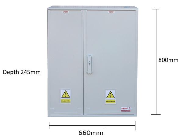 GRP Electric Enclosure,Kiosk,Cabinet,Meter Box,Housing (W660 x H800 x D245)mm