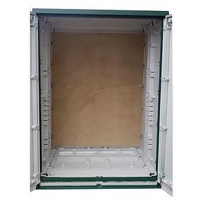GRP Electric Enclosure, Kiosk, Cabinet, Meter Box, Housing Green 800x1154x640 mm
